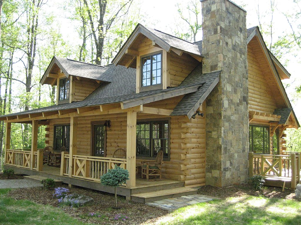 Fah zas poszt for Colonial log homes