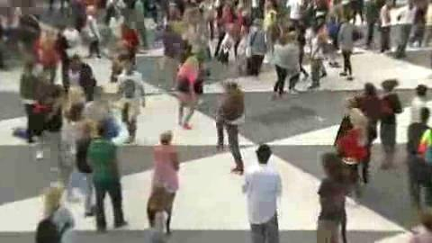 Michael Jackson Flash Mobs in Stockholm