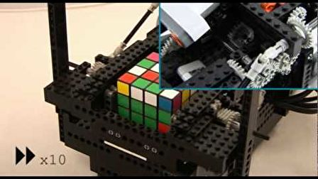 ARM Powered LEGO/Nokia 4x4x4 Rubik's Cube Solver