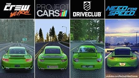 DriveClub vs. Need For Speed vs. The Crew vs. Project CARS
