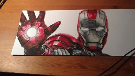 Iron Man Speed Drawing [The Avengers]