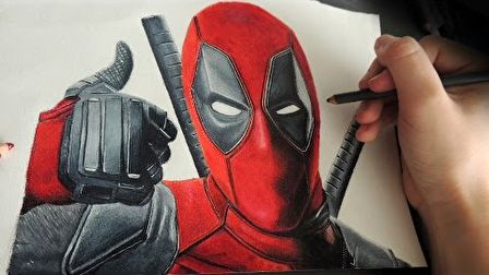 Speed Drawing Deadpool | Marvel Superhero in Colored Pencil