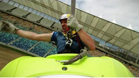 Bungee jump kayaking in 2010 World Cup Stadium - Steve Fisher