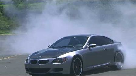 BMW M6 drift and burnout