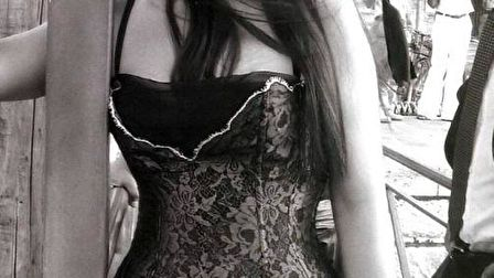 Monica Bellucci in black and white