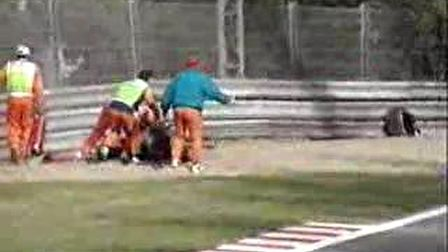 F1 horror crash
