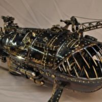 Steampunk fish submarine