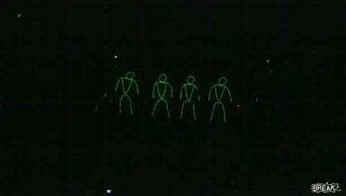 Glow in the Dark Stick Men Dance
